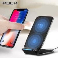 Беспроводное зарядное Rock W3 Fast Wireless Charging Stand DT-618 Black