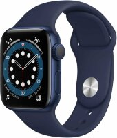 Apple Watch Series 6 GPS 44mm Aluminum Case with Sport Band  Blue