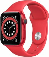 Apple Watch Series 6 GPS 44mm Aluminum Case with Sport Band RED