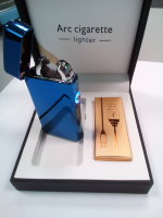 Электронная USB зажигалка Arc lighter Blue-Gold