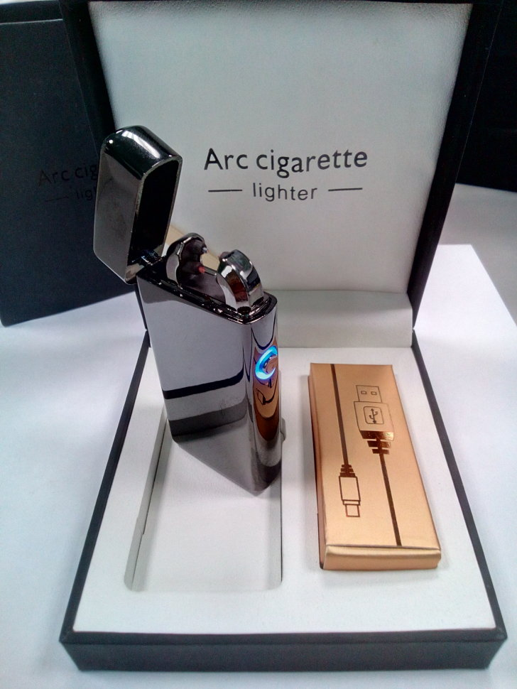 Электронная USB зажигалка Arc lighter Grey